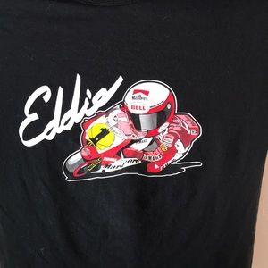 Eddie Lawson Superbike Racing T-shirt Size Large